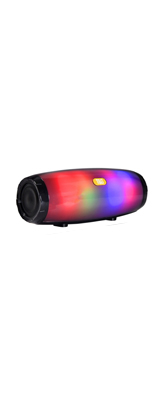 T&G / Bluetooth AUX3.5mm・microSDカード対応 / 充電式 LED  ポータブル ワイヤレス スピーカー (ブラック) 【パッケージ無し・バルク商品】
