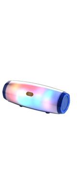 T&G / Bluetooth AUX3.5mm・microSDカード対応 / 充電式 LED  ポータブル ワイヤレス スピーカー (ブルー) 【パッケージ無し・バルク商品】