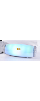 T&G / Bluetooth AUX3.5mm・microSDカード対応 / 充電式 LED  ポータブル ワイヤレス スピーカー (グレー) 【パッケージ無し・バルク商品】