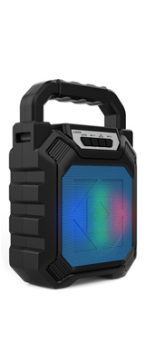 Unknown / Bluetooth・AUX3.5mm・USBメモリ・microSDカード対応 / 充電式 ポータブル LED スピーカー(ブラック)  【パッケージ無し・バルク商品】