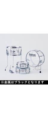 Foldrum(フォルドラム) / 小口径セット / (金属パーツ:ブラック) / 折り畳み コンパクト /  ドラムセット 2大特典セット