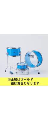 Foldrum(フォルドラム) / Pop 小口径セット / (金属パーツ:ゴールド、紐:イエロー) / 折り畳み コンパクト /  ドラムセット 2大特典セット