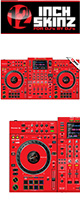 12inch SKINZ / Pioneer XDJ-XZ SKINZ (RED)  【XDJ-XZ用スキン】