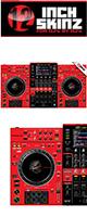 12inch SKINZ / Pioneer XDJ-XZ SKINZ (RED/BLACK)  【XDJ-XZ用スキン】