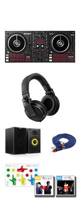 【本格ヘッドホン・スピーカーセット】Numark(ヌマーク) / MixTrack Pro FX &Pioneer DJ(パイオニア) HDJ-X5-K 【Serato DJ Lite 付属】 PCDJコントローラー 6大特典セット