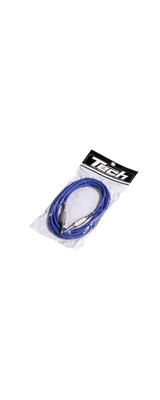TECH(テック) / TC-3 ギター ベース シールド 3m ケーブル (ブルー)