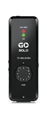 ■ご予約受付■ TC HELICON(ティーシーヘリコン) / GO SOLO モバイルオーディオ/MIDIインターフェース 【次回納期未定】