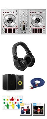 Pioneer DJ(パイオニア) / DDJ-SB3-S(シルバー) & HDJ-X5-K本格ヘッドホン・スピーカーセット 【Serato DJ Lite 無償】 6大特典セット