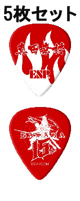 ESP(イーエスピー) / PT-Sanada ESP×戦国BASARAコラボレーション 真田幸村 Modelピック ティアドロップタイプ 5枚セット