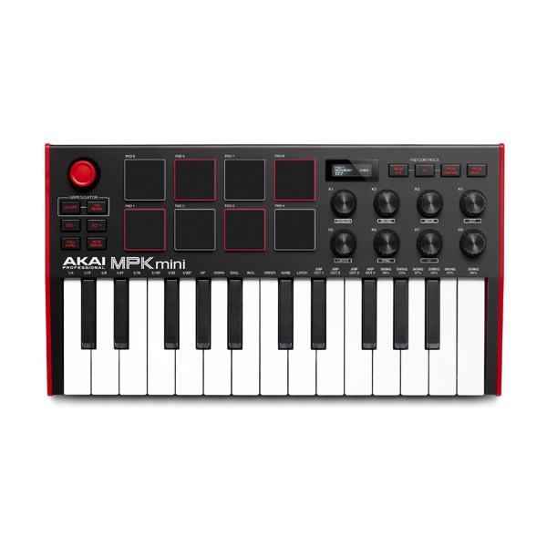 Akai(アカイ) / MPK mini mk3 / ベロシティ対応(バックライト付き) / 25鍵USB MIDIキーボードコントローラー 【9月頃発売予定】