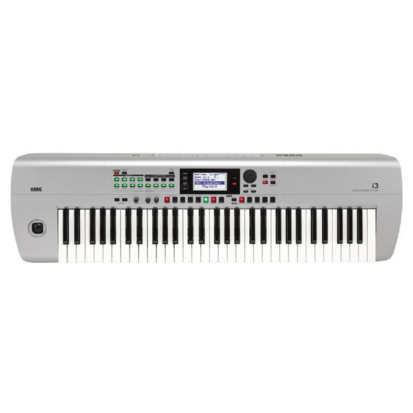 Korg(コルグ) / i3 MS (スーパー・マット・シルバー) / Super Matte Silver / 電池駆動可能 自動伴奏機能付き 61鍵盤 シンセサイザー・ワークステーション