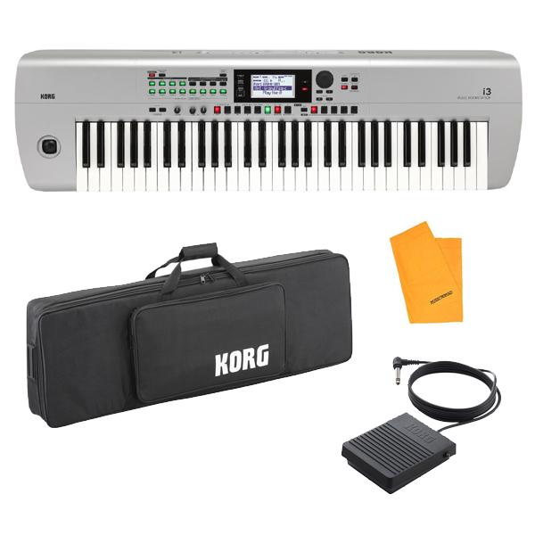【専用ケースセット】 Korg(コルグ) / i3 MS (スーパー・マット・シルバー) / Super Matte Silver / 電池駆動可能 自動伴奏機能付き 61鍵盤 シンセサイザー・ワークステーション