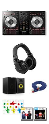 Pioneer DJ(パイオニア) / DDJ-SB3 & HDJ-X5-K本格ヘッドホン・スピーカーセット 【Serato DJ Lite 無償】 6大特典セット