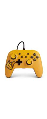 PowerA / Pixel Pikachu / ピクセル ピカチュウ / 有線 Switch USB ゲーム コントローラー 【海外限定 公式ライセンス品】