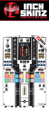 12inch SKINZ / Pioneer DJM-S11 SKINZ Special Edition Colors (WHITE/BLACK) 【DJM-S11用スキン】