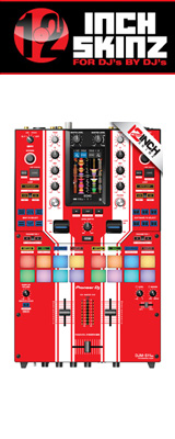 12inch SKINZ / Pioneer DJM-S11 SKINZ Special Edition Colors (RED) 【DJM-S11用スキン】