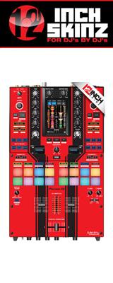 12inch SKINZ / Pioneer DJM-S11 SKINZ Special Edition Colors (RED/BLACK) 【DJM-S11用スキン】
