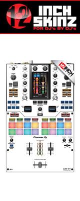 12inch SKINZ / Pioneer DJM-S11 SKINZ (WHITE/BLACK) 【DJM-S11用スキン】