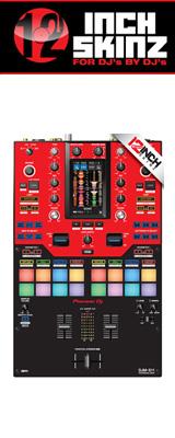 12inch SKINZ / Pioneer DJM-S11 SKINZ (RED/BLACK) 【DJM-S11用スキン】