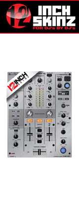 12inch SKINZ / Pioneer DJM-450 SKINZ Metallics (BRUSHED SILVER) 【DJM-450用スキン】
