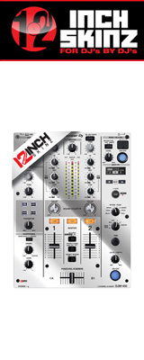 12inch SKINZ / Pioneer DJM-450 SKINZ Metallics (MIRROR SILVER) 【DJM-450用スキン】