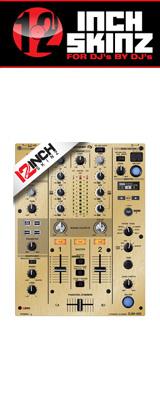 12inch SKINZ / Pioneer DJM-450 SKINZ Metallics (BRUSHED GOLD) 【DJM-450用スキン】