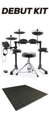 【ドラムマット付きセット】ALESIS(アレシス) / DEBUT KIT メッシュヘッド 電子ドラム / キッズ向け・子ども用ドラム入門セット 2大特典セット