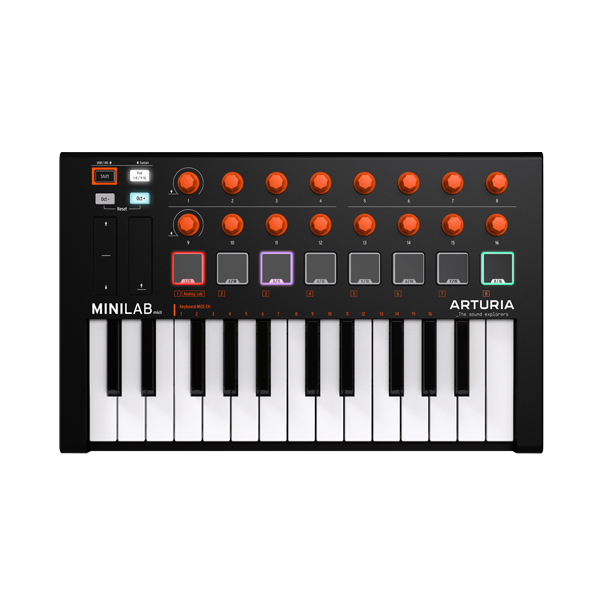 【限定1台】 ARTURIA(アートリア) / MINILAB MKII Orange Edition 【数量限定モデル】 MIDIコントローラー