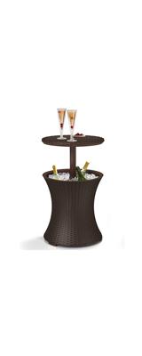Keter / Cool Bar Side Cooler Table / バーテーブル DJ / Brown 7.5ガロン / テーブル兼クーラーテーブル 【輸入品】