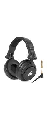 Maono / AU-MH601 / 折り畳み可能・50mm径ドライバー・変換付き / オーバーイヤー 密閉型 有線 DJ モニターヘッドホン