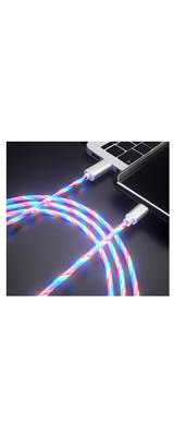 光る USBケーブル / マルチカラー / Type C 2m 【輸入品】