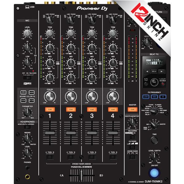 12inch SKINZ / Pioneer DJM-750MK2 Skinz / Black / スキン