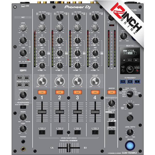 12inch SKINZ / Pioneer DJM-750MK2 Skinz / Gray / スキン