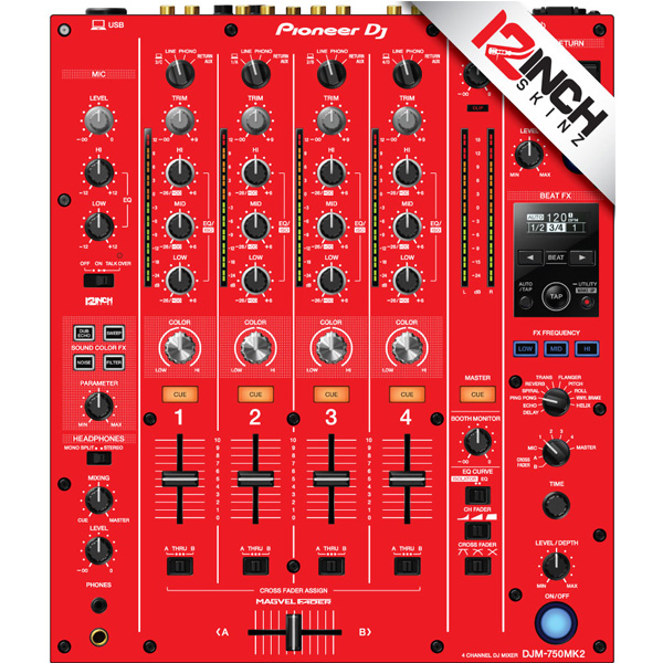 12inch SKINZ / DJM-750MK2 Skinz / Red / スキン