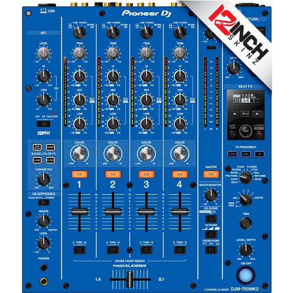 12inch SKINZ / Pioneer DJM-750MK2 Skinz / Blue / スキン