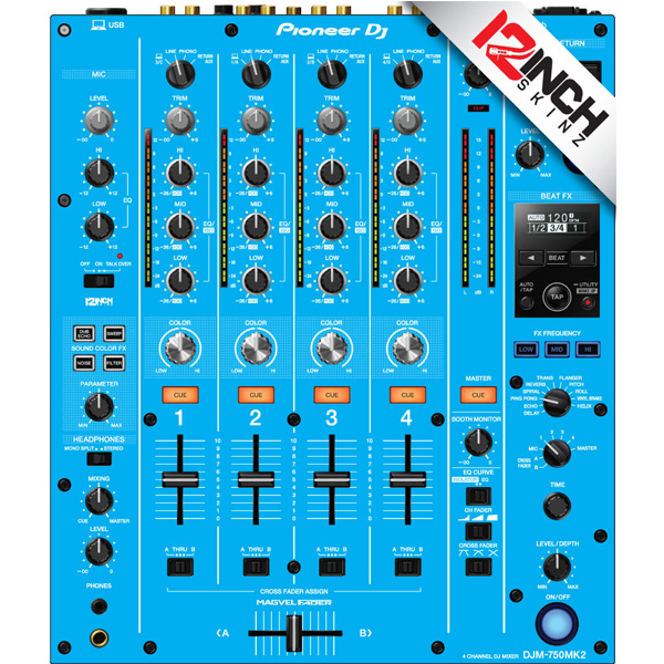 12inch SKINZ / Pioneer DJM-750MK2 Skinz / Lite Blue / スキン