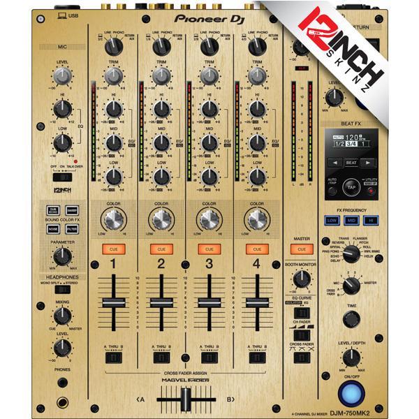 12inch SKINZ / Pioneer DJM-750MK2 Skinz / Brushed Gold / スキン