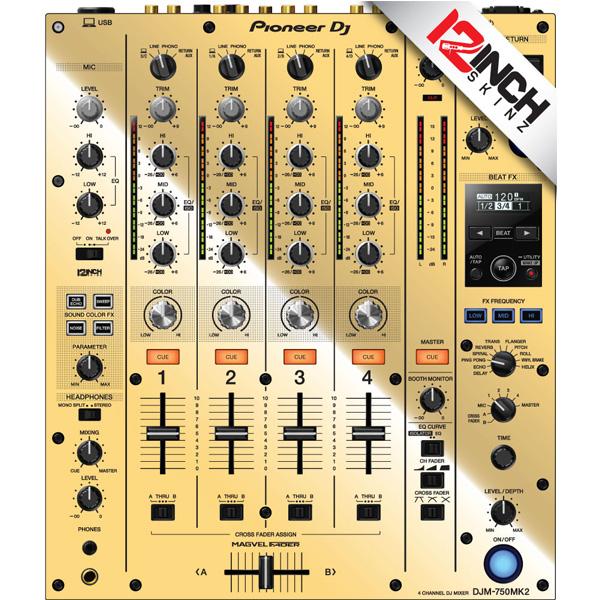 12inch SKINZ / Pioneer DJM-750MK2 Skinz / Mirror Gold / スキン
