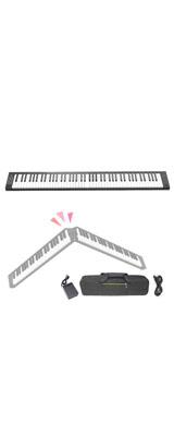 折り畳み ポータブル キーボード・MIDIキーボード / Bluetooth対応 88鍵盤 【輸入品】 1大特典セット