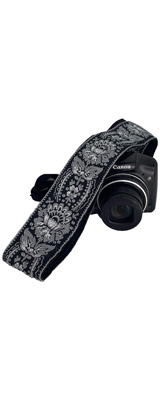 Art Tribute / Royal Silver & Black Woven Camera Strap for All DSLR Camera カメラストラップ