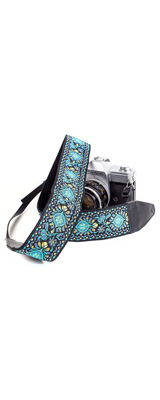 Art Tribute / Blue Woven Vintage Camera Strap for All DSLR Camera カメラストラップ