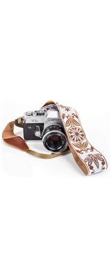 Art Tribute / White Woven Vintage Camera Strap for All DSLR Camera カメラストラップ