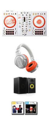 Pioneer DJ(パイオニア) / D4DJ First Mix Happy Around! コラボレーションモデル DDJ-400-HA + HDJ-CUE1BT-W スピーカーセット 【rekordbox dj 無償】【数量限定モデル】 5大特典セット