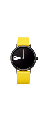 SHENGKE / ミニマリスト クォーツ / イエロー / 超薄型レザーストラップ レディース  腕時計 【輸入品】