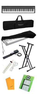 【コスパフルセット】 Roland(ローランド) / FP-30X-BK / ポータブル・電子ピアノ  4大特典セット