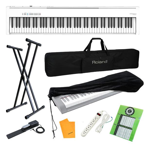 【コスパフルセット】 Roland(ローランド) / FP-30X-WH / ポータブル・電子ピアノ 4大特典セット