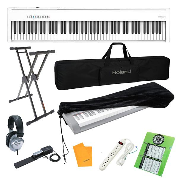 【純正オプションフルセット】  Roland(ローランド) / FP-30X-WH / ポータブル・電子ピアノ 4大特典セット