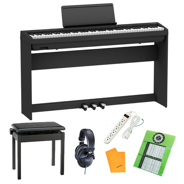 【純正据え置きオプションセット】  Roland(ローランド) / FP-30X-BK / ポータブル・電子ピアノ  3大特典セット
