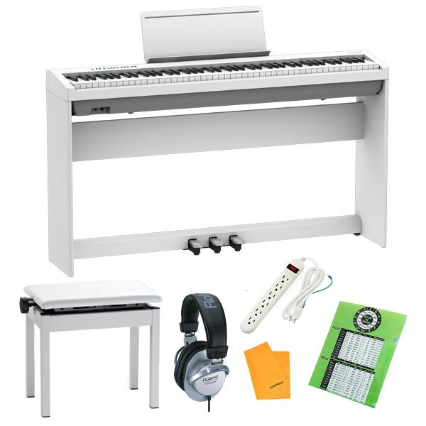 【純正据え置きオプションセット】  Roland(ローランド) / FP-30X-WH / ポータブル・電子ピアノ 3大特典セット