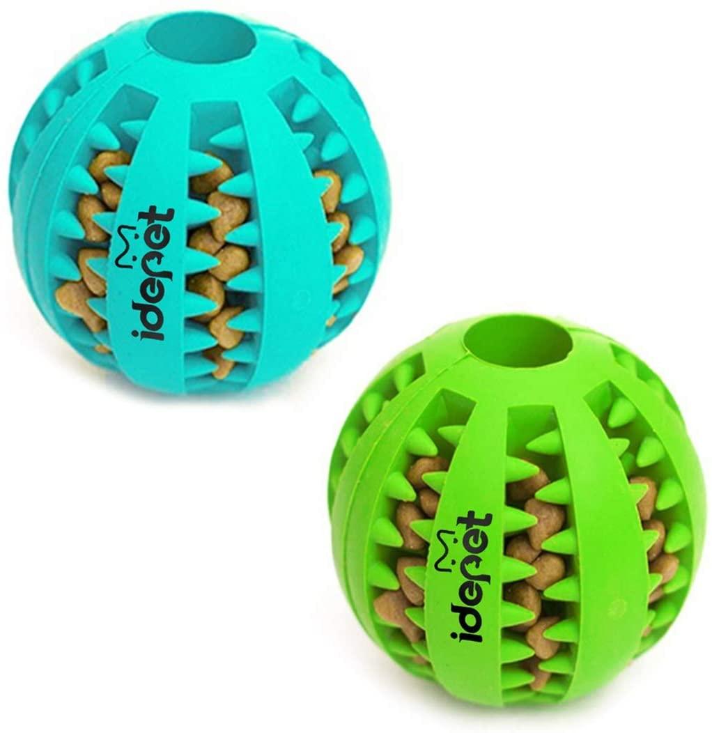 idepet(アイディーイーペット) / 犬のおもちゃボール (2個1セット) 歯のクリーニングボール Idepet_2.75 inch (Pack of 2)